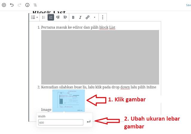 Inline Image Gutenberg