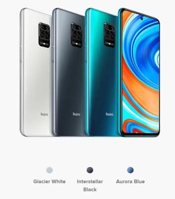 ألوان هاتف Redmi Note 9s