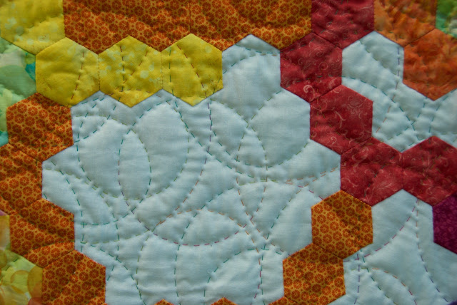 english paper piecing quilt