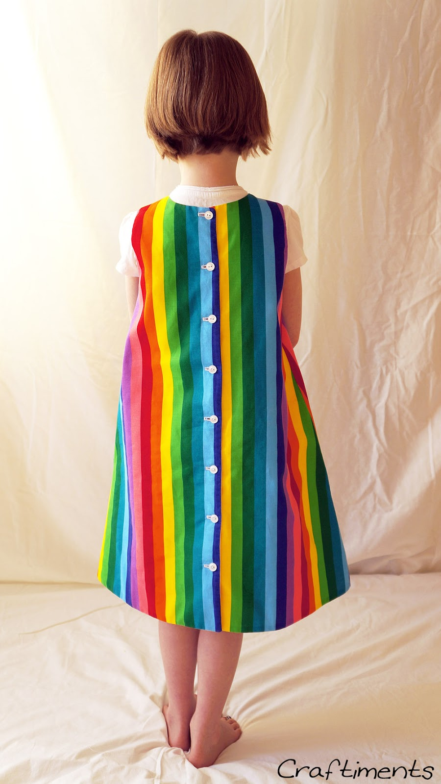 Back of rainbow dress