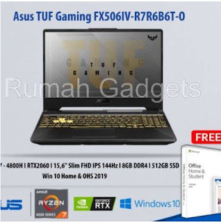 Asus TUF Gaming FX506IV-R7R6B6T-O AMD Ryzen 7-8GB-512GB PCIe-WIN 10- OHS 2019