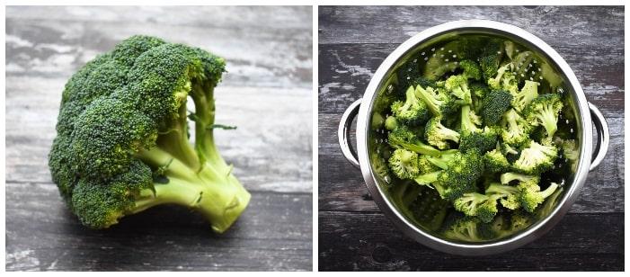 Making broccoli and pea soup - step 1 - broccoli