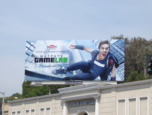 Matpats Game Lab YouTube Red billboard