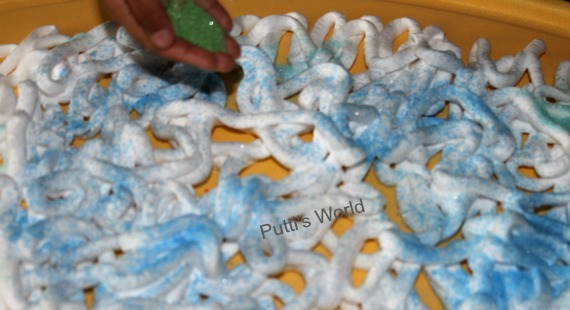 Shaving Cream and Colored Sand Sensory Play Kids