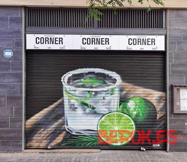 graffiti persiana Sagrera Barcelona