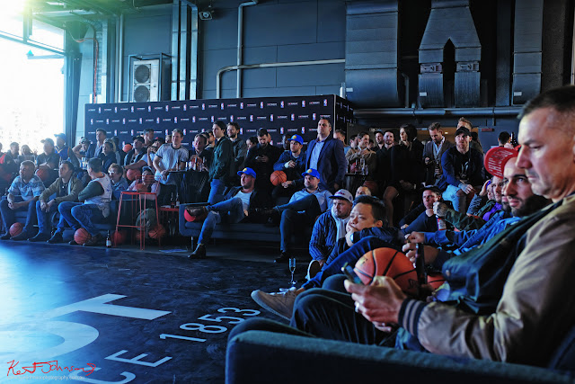 Guests watching the Final  Raptors VS Warriors at the TISSOT NBA Finals Party Sydney - Photography by Kent Johnson.