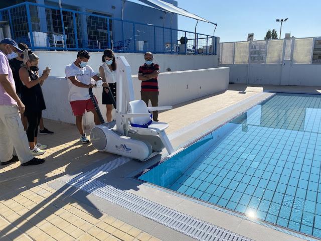 Αναβατόριο για ΑΜΕΑ απέκτησε το Ολυμπιακό Κολυμβητήριο Ναυπλίου