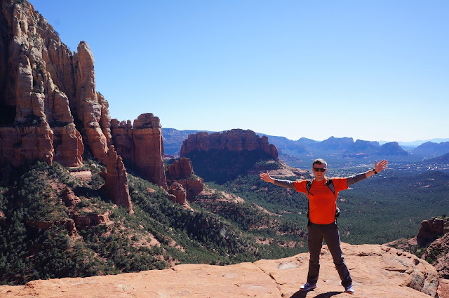 site author standing at canyon overlook