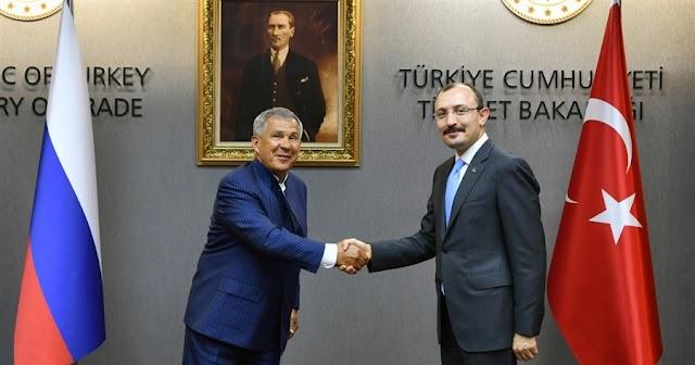 Bakan Muş, Tataristan Cumhurbaşkanı ile görüştü