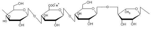 molecular structural formula of LA gellan gum