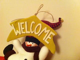 yılbaşı hediyelik kardan adam kapı giriş süsü