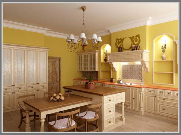 Amber Yellow Granite Kitchen Countertop Ideas And Granite Countertop Colors