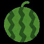 フルーツのマーク(スイカ)