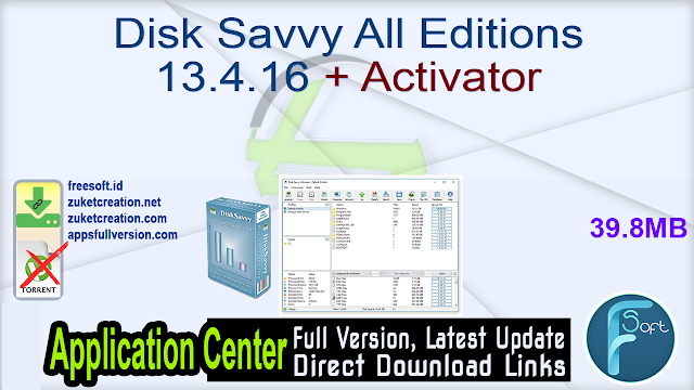 Disk Savvy All Editions 13.4.16 + Activator