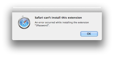 Unable to Install Certain Safari Extensions