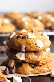 S'mores Pumpkin Cookies