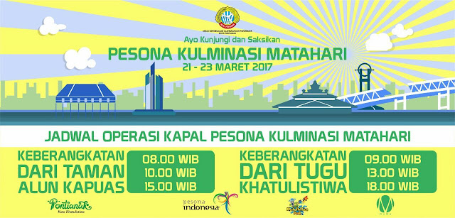 Jadwal Kapal Bandong Pesona Kulminasi Matahari 2017