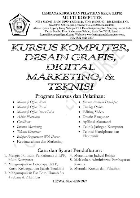 Brosur LKP Multi Komputer