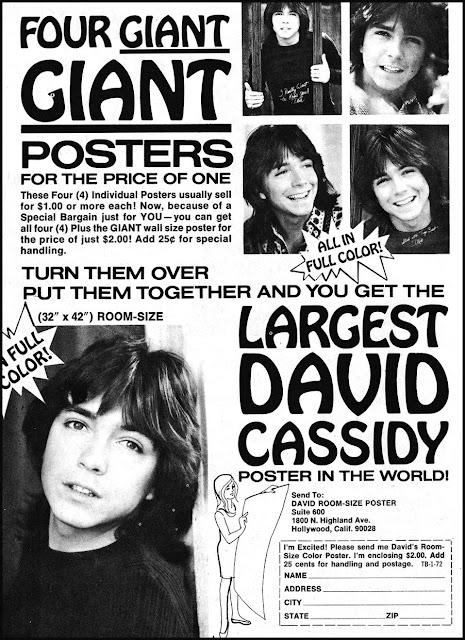 Teen magazine ad -- David Cassidy