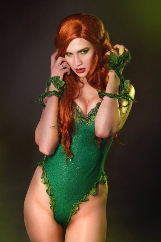 cosplay girls, foglie,