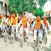 युवा सपाजनों ने भाजपा सरकार की जनविरोधी नीतियों को लेकर साइकिल चलाकर किया विरोध प्रदर्शन