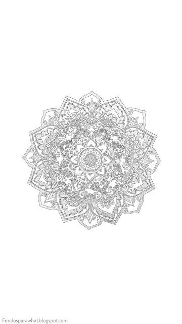 Fondo de Mandala en Blanco