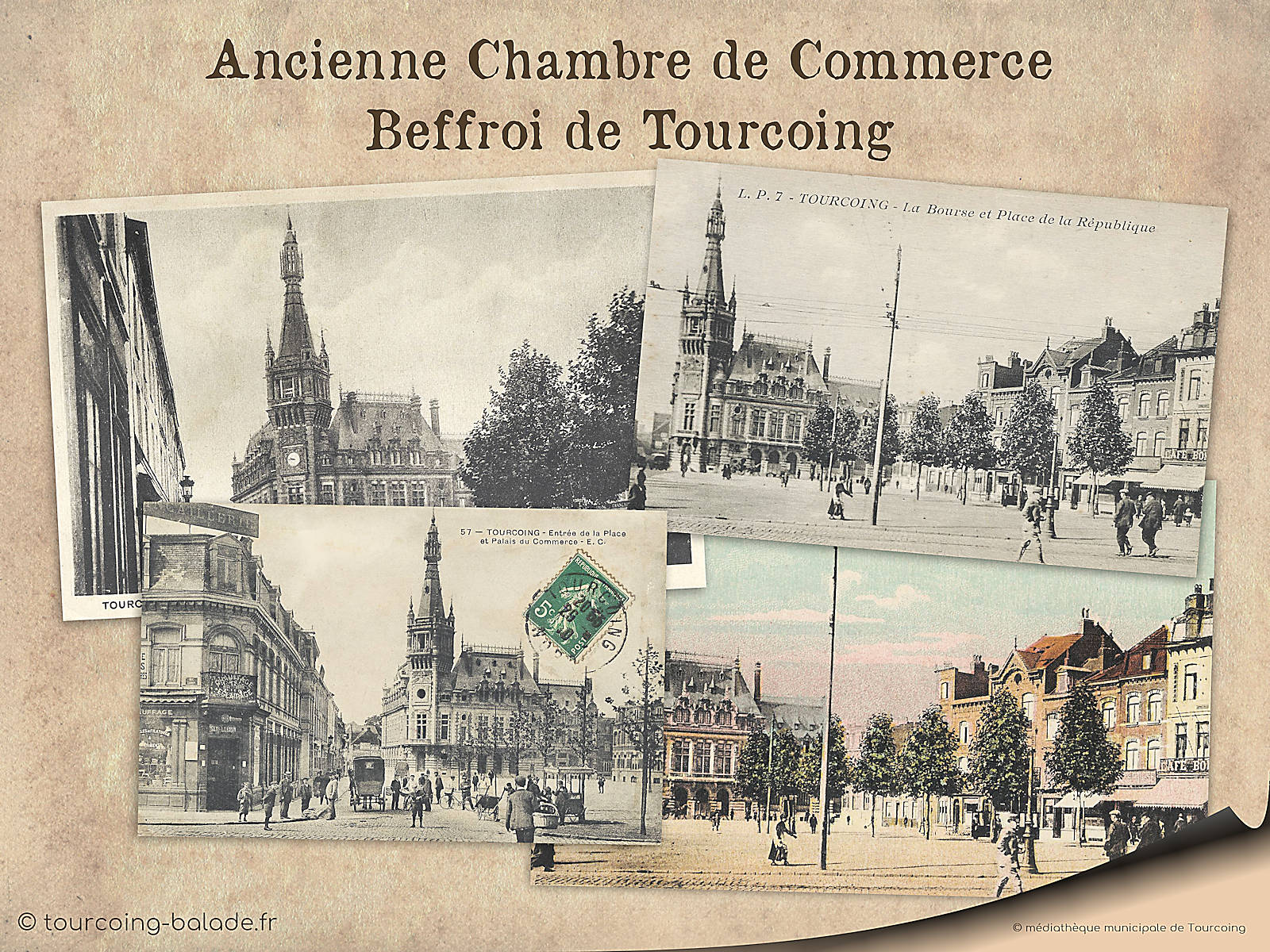 Cartes Postales Anciennes, Beffroi Tourcoing