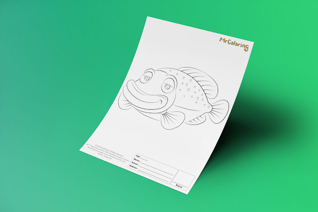 Free Printable tropical Fish Template Coloriage Outline Blank Coloring Page pdf For Kids Pictures To Print Out Fun Colouring Pages Kindergarten Preschool Toddler 5