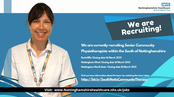 Recruiting! Physiotherapy across South Nottinghamshire