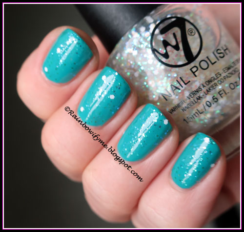 OPI ~ Dance Party Teal Dawn and W7 ~ White Wedding