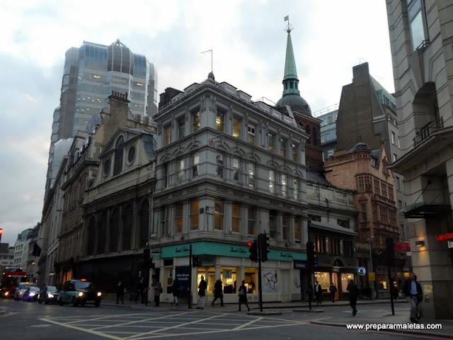 contraste arquitectónico en Londres