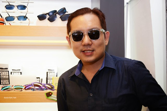Trying out their fashion sunglass range from SNRD