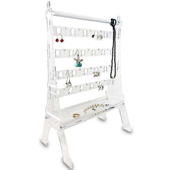 #JWY6010 Acrylic Eiffel Tower 44 Pairs Earring Display