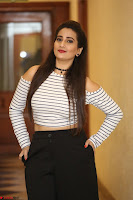 Manjusha in sleevelss crop top and black skirt at Darshakudu pre release ~  Exclusive Celebrities Galleries 110.JPG