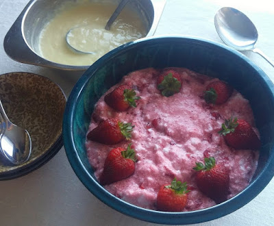 Strawberry Whip with Custard