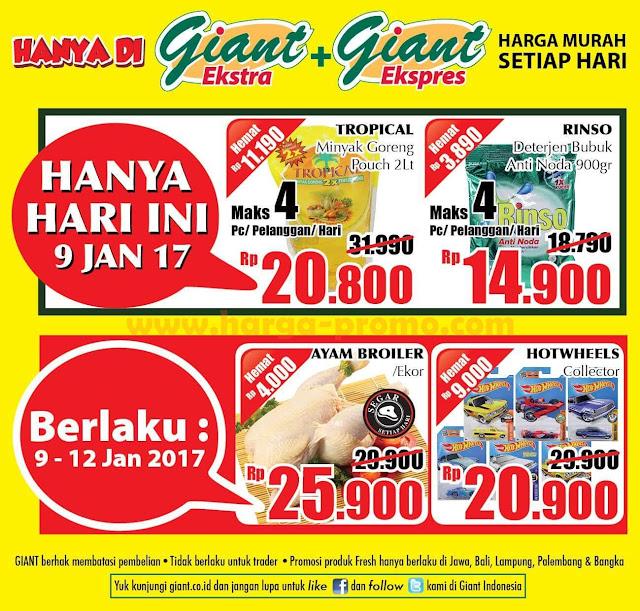 Katalog Promo GIANT Ekstra GIANT Ekspres Terbaru Senin Periode 9 - 12 Januari 2017