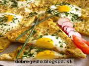 Lavaš s vajíčkom a syrom - recept