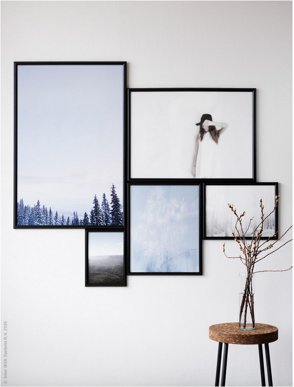 Hang art like an ikea stylist poppytalk bloglovin for Hanging frames on walls