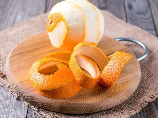 Orange peel for glowing skin