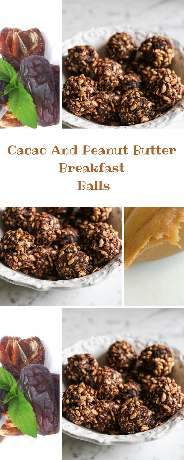 Cacao And Peanut Butter Breakfast Balls