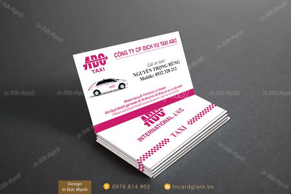 Mẫu card visit Taxi ABC
