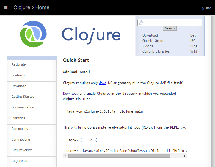 Adam Cameron's Dev Blog: Getting Clojure installed and