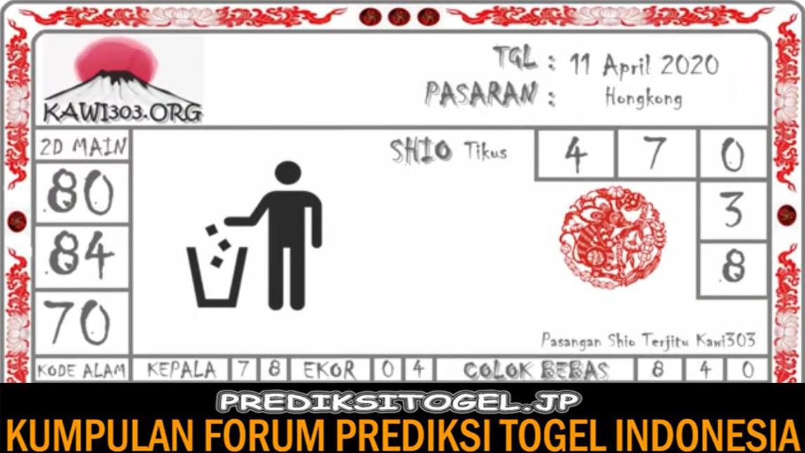 Prediksi HK Malam Ini Sabtu 11 April 2020 - Prediksi Togel JP