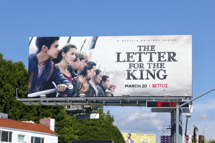 Letter for the King Netflix series billboard