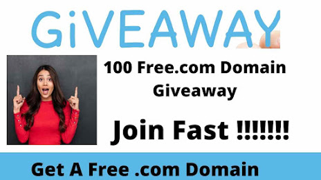 Free 100 .com Domain Giveaway