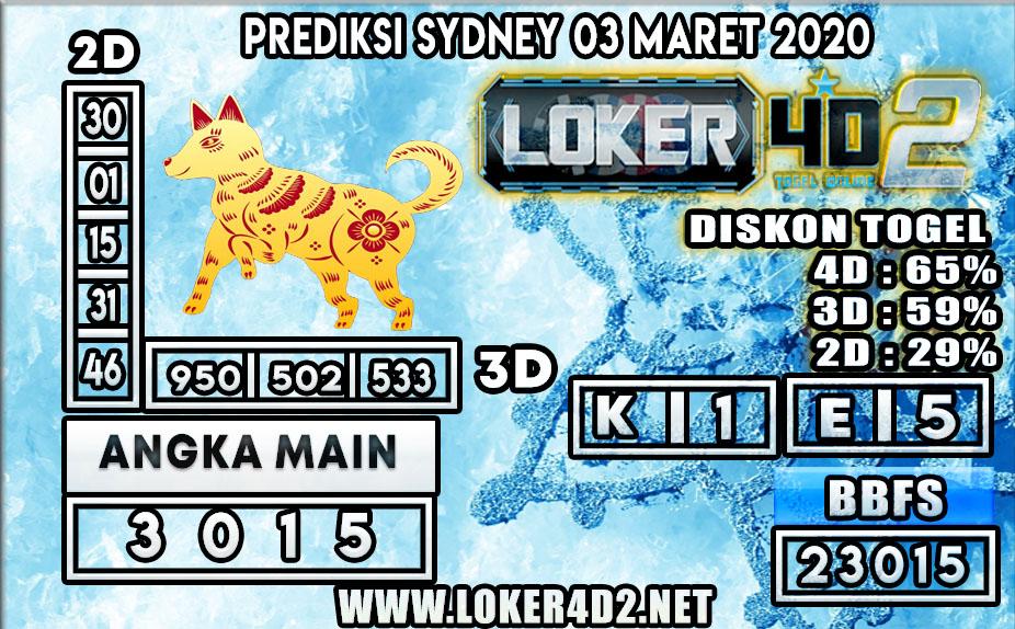 PREDIKSI TOGEL SYDNEY LOKER4D2 3 MARET 2020