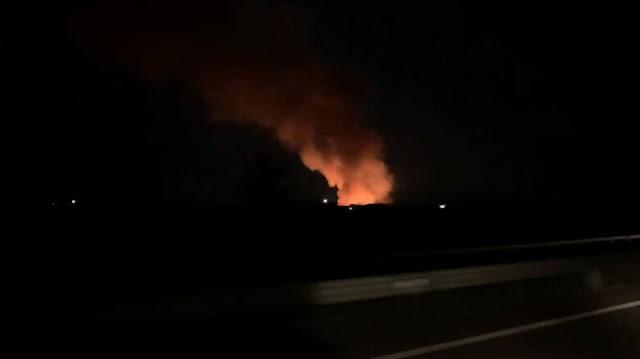 Πυρκαγιά σε εργοστάσιο ανακύκλωσης στην Κόρινθο (βίντεο)