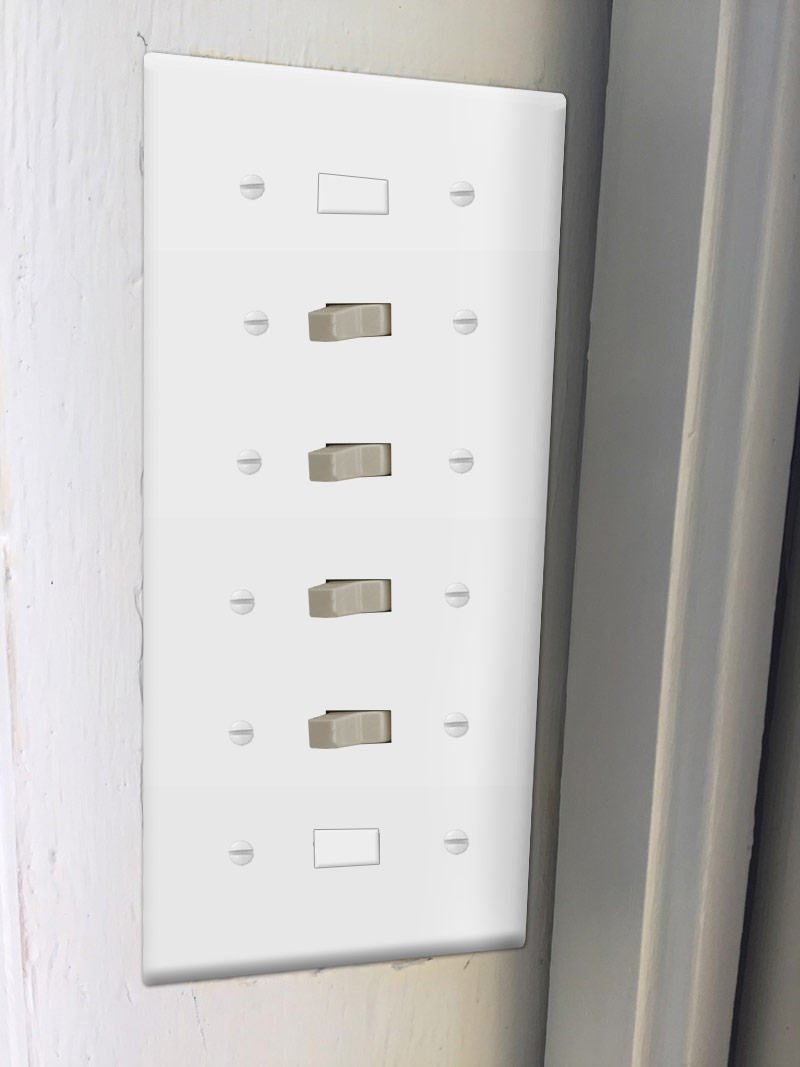 Kyle Switch Plates: Covering Switches When the Wall Cutout is Too Big