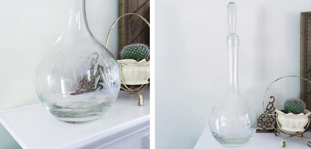 Etched Floral Decanter at Karibeth.com