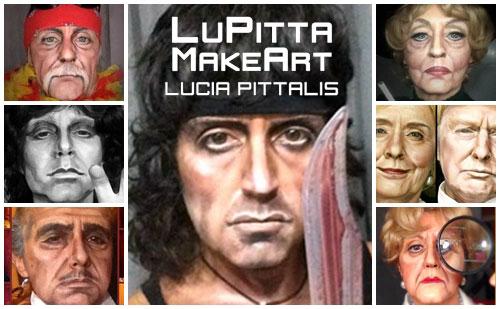 collage maquillaje de caracterización para carnaval lucia pittalis